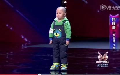 """""""China's Got Talent"""", balerini 3-vjeçar çmend të gjithë [VIDEO]"""