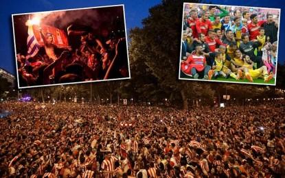 Festa e Atleticos pushton Madridin