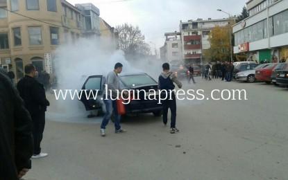 Bujanoc:Merr flak vetura ,një i lënduar(foto)