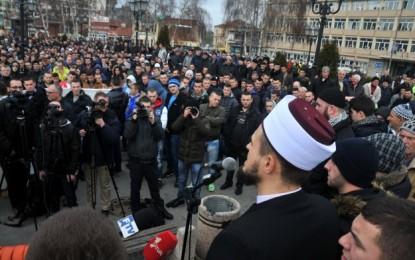 Protesta paqësore në Novi Pazar: Islami dhe muslimanët nuk kanë të bëjnë me terrorizmin