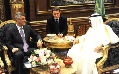 Thaçi, për ngushëllime në Arabi