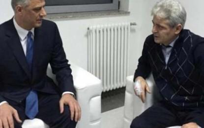 Thaçi viziton Ali Ahmetin e aksidentuar