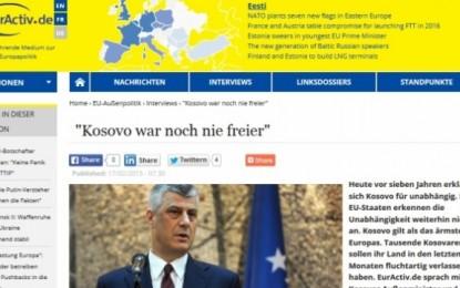 Thaçi: Edhe në Beograd do të valojë flamuri i Kosovës