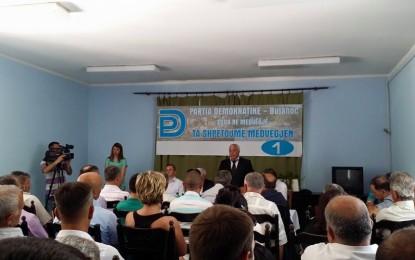 Partia Demokratike në Medvegjë shënon 1 vjetorin e themelimit
