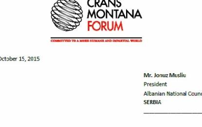 Jonuz Musliu ftohet  në forumin prestigjioz të Crans Montana