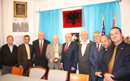 Delegacioni i Luginës së Presheves vizitoi VATRËN  në Amerikë