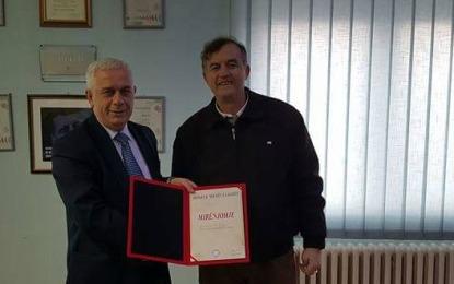 """Shoqata """"Mjekët e Luginës"""" ndau mirënjohje për kryetarin Nagip Arifi"""