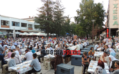 Iftari madhështorë në Bujanoc i shtruar nga komuna Bajram Pasha(FOTO/VIDEO)