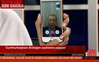 Erdogan i bën thirrje popullit të dalë në rrugë kundër ushtrisë (Video)