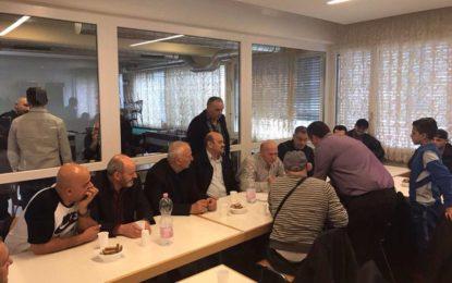 Takim i  frytshëm  dhe shpresdhënës  i mërgimtarëve për ndërtimin e xhamisë së shumpritur  në  Maltërnoc