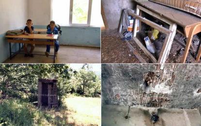 3 nxënës dhe 2 mësues me kushte ekstreme të këqia në Bukocin e Preshevës