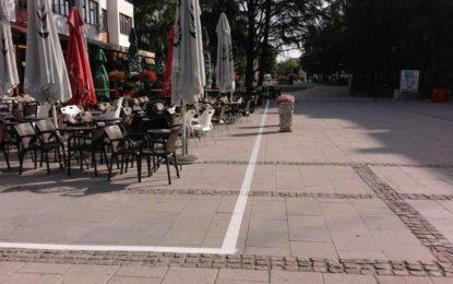 Bujanoc: Bëhet sinjalizimi i hapësirave që mund të shfrytzohen nga lokalet në Sheshin e qytetit(foto)