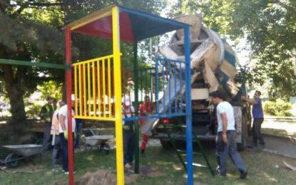 QARG bënë montimin e lodrave për fëmijë në parkun e Bujanocit