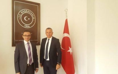 Kryetari Kamberi takon koordinatorin e agjencionit turk për zhvillim  TIKA