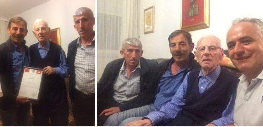 """Kolosi i gjuhës, Akademik Idriz Ajeti i pret bashkëvendësit e tij nga Shoqata Humanitare """"Medvegja"""""""