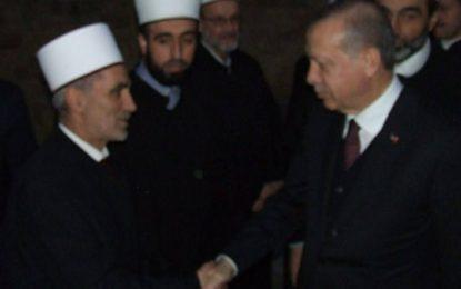 Myftiu i BIPBM-së, Nexhmedin Saqipi në pritje të presidentit turk Erdoan, në Beograd