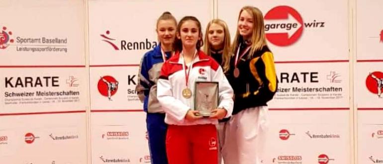 """Adisa Ramadani nga Tërnoci, kampione në karate në Zvicër """"Liestal 2017"""""""