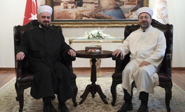 Kryetari i Dijanetit Dr.Ali Erbash, priti  Reis-L-Ulemanë e Rijasetit të Bashkësisë  Islame  të Serbisë