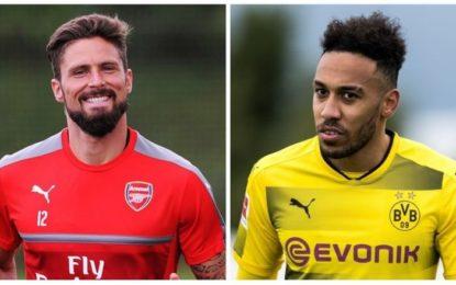 Arsenali ofron para dhe Giroudin për Aubameyangin