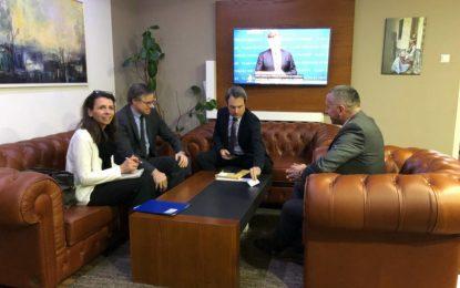 Kamberi priti  Ambasadorin e Gjermanisë të akredituar në Beograd, E.T. Axel Dittmann