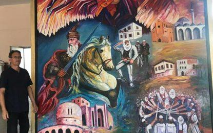 Piktori Xhevdet Dulaj me punimin artistik për 550 vjetorin e vdekjes së Skënderbeut