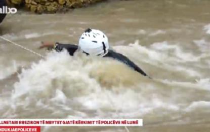 Hoxha Flurim Neziraj rrezikon jetën gjatë kërkimit të policëve në lumë(video)