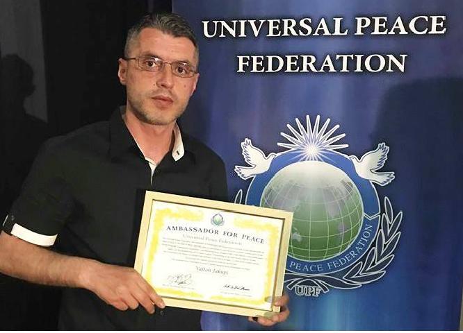 Regjisori  Valton Jakupi  shpallet Ambasador i Paqes në Botë