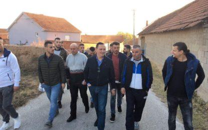 Arbër Pajaziti, ka zhvilluar sot takime me banorët e fshatit Samolicë