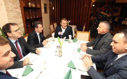 Shaip Kamberi darkë pune me Ambasadorin e OSBE-së në Beograd, Andrea Orizio