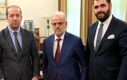 Kryetari KKSH-së Ragmi Mystafa, takon kryetarin e Kuvendit të Maqedonisë, Talat Xhaferin