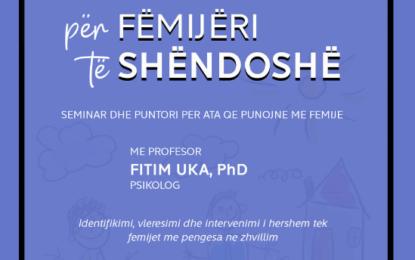 Për Fëmijëri të Shëndoshë – Seminar dhe Punëtori – Preshevë