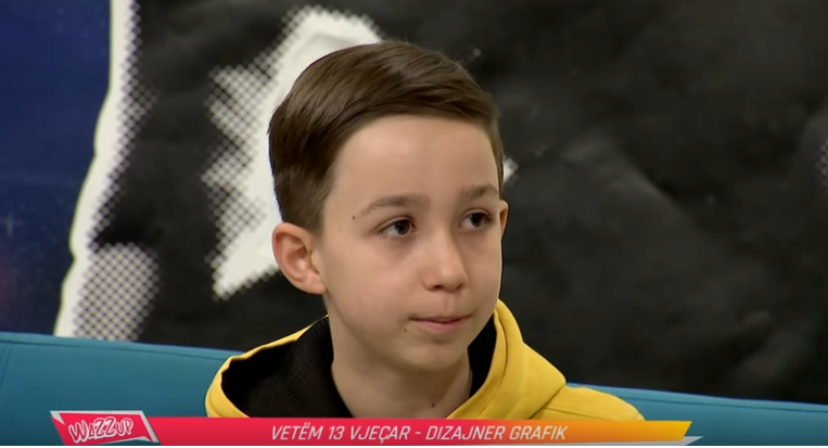 Edoniti nga Turia e Bujanocit 13 vjeçar dhe dizajner i suksesshëm grafik(video)